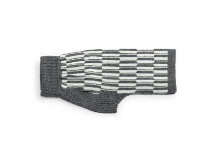 Retro svetr pro psy MiaCara Giulia šedý