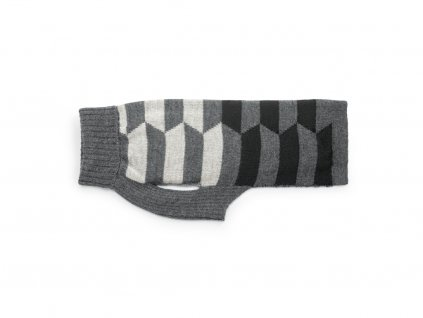 Retro svetr pro psy MiaCara Lorenzo šedý