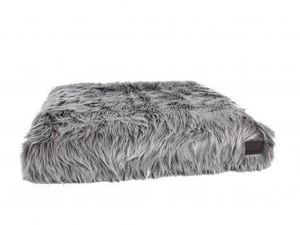 Luxusní matrace pro psy MiaCara Capello šedá s kožešinou
