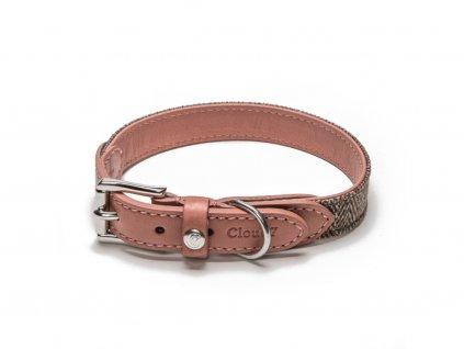 Luxusní kožený obojek Cloud7 Boboli růžový