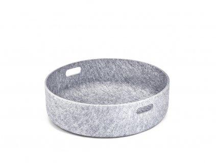 Koš na hračky MiaCara Cesto šedý