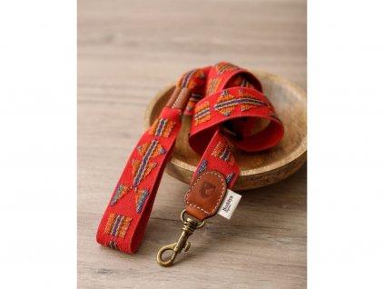 Set obojek a vodítko pro psa Buddys Etna červený