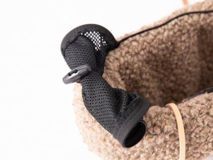 Designová cestovní taška pro psy Duepuntootto Annie hnědá