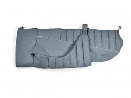 Obleček pro psa zimní kabát MiaCara Stefano šedý
