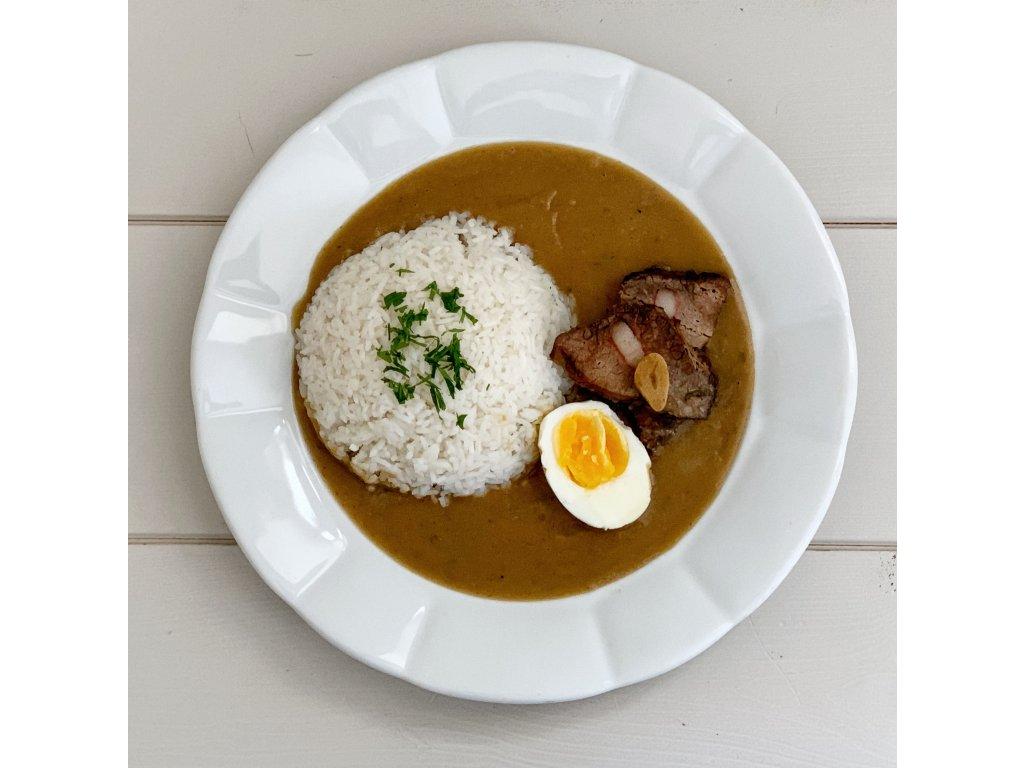 Štěpánská hovězí pečeně, rýže