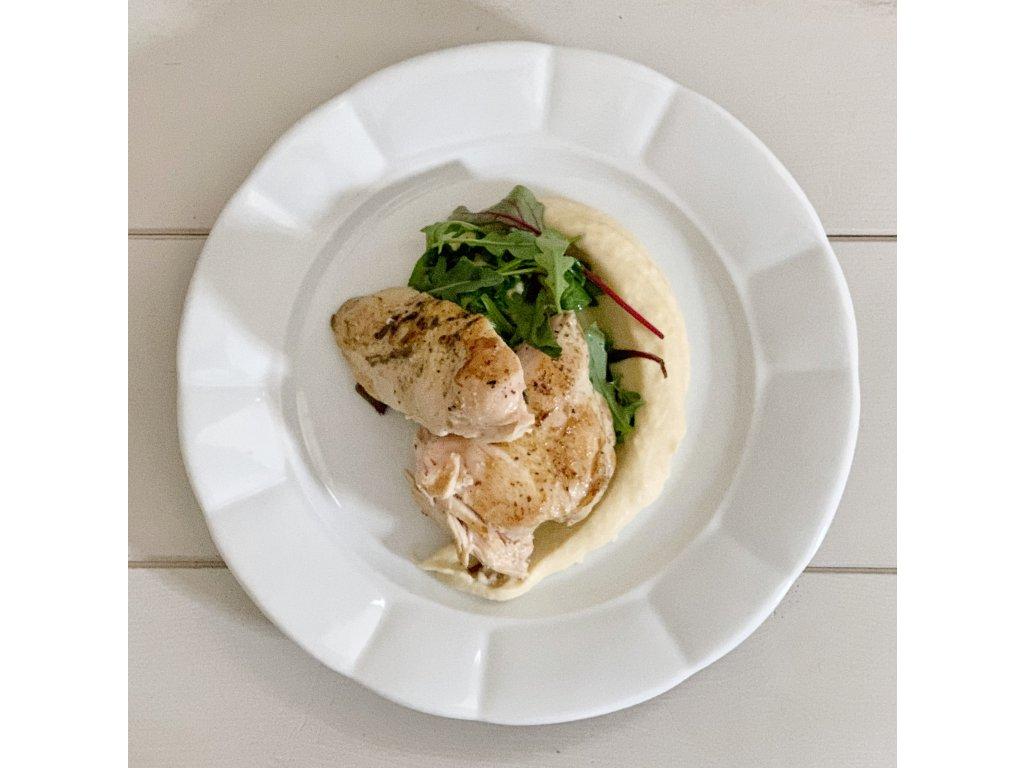 Kuřecí prso, celerové pyré