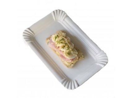 Chlebíček s bramborovým salátem a pražskou šunkou