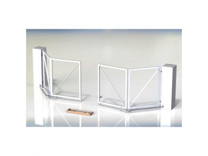 Brána křídlová skládací set TWIN-DRIVE-6.0 - set pro výrobu skládací 2-křídlové brány, průjezd maximálně do 6 m