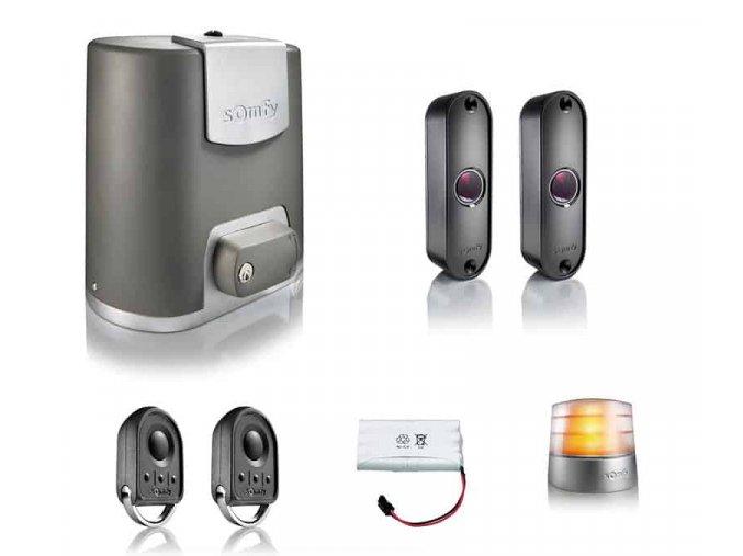 Somfy Elixo 500 24V io-Komfort pack pohon pro posuvné a samonosné brány 2x dálkový ovladač, sada fotozávor, maják, záložní zdroj DOPRAVA ZDARMA
