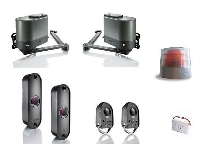 SOMFY Axovia MultiPro 3S io sada pro křídlovou bránu,maják + záložní zdroj+Connexoon ovládání mobilním telefonem