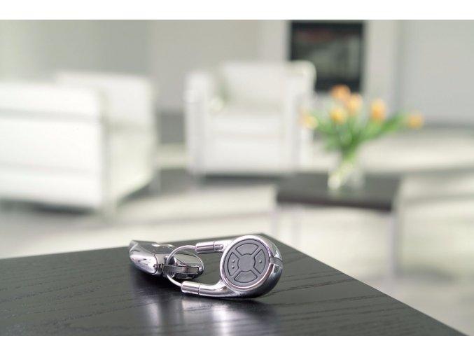 Hörman dálkový ovladač HSD 2-C BS - tlačítkový ruční vysílač luxusní ocelový ovladač-chrom