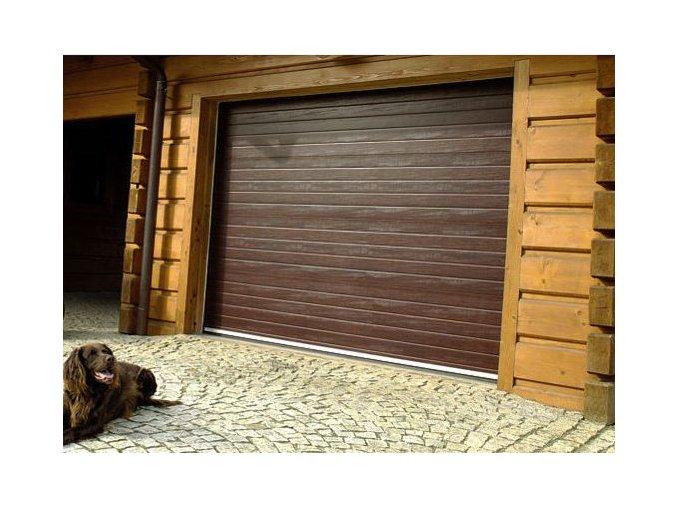 AKCE Kružík 2375x2000 až 2500x2125 sekční garážová vrata PLUS základní barvy bílá a hnědá+dekory dřeva Duraprint (Barva bílá Ral 9010, hnědá Ral 8014, zlatý dub woodgrain, tmavý dub woodgrain ořech- Nussbaum)