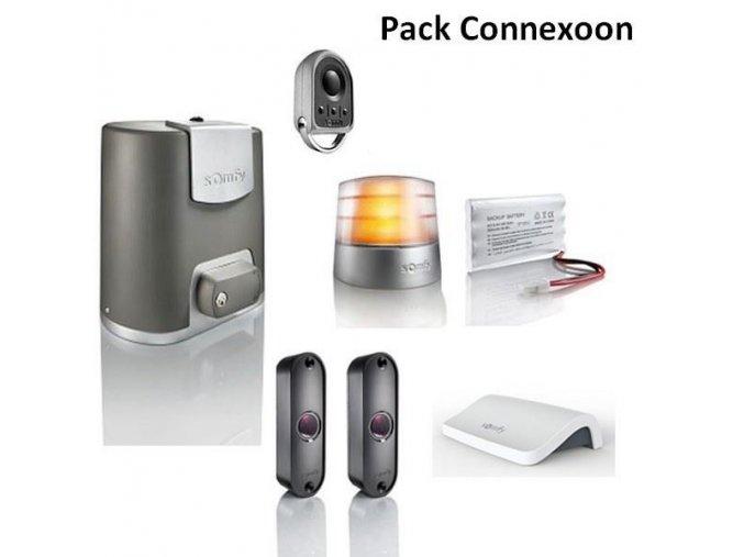 AKCE Somfy Elixo500 24V io-KS sada 1x ovladač, sada Connexoon, záložní zdroj, maják-systém komunikace s mobilním telefonem-DORAVA ZDARMA