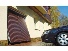 Garážová vrata Hörmann Berry typ N 80 rozměr 2375x 2000 a rozměr  2500 x 2125 barva hnědá (Barva Ral 8028 hnědá,)