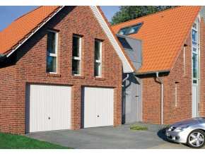 Garážová vrata Hörmann Berry typ N 80 rozměry 2375 x 2000 a 2500 x 2125 barva bílá  (Barva bílá RAL 9016,)