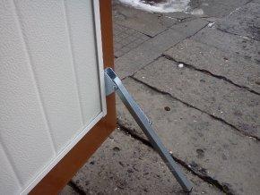 Zarážka proti otevření větrem pro křídlová vrata- kvalitní provedení  /sada 2 kusů/