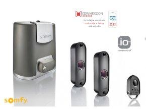 AKCE Somfy ELIXO 500 24V 3S io +Coonexoon Pack-mobilní ovládání, pohon pro posuvné a samonosné brány 1x dálkové ovládání, sada fotozávor DOPRAVA ZDARMA