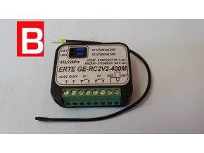 Externí příjmač ERTE 2 NEW externí 2- kanálový příjmač 433Mhz pro pohony vrat a bran ERTE