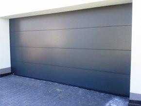 AKCE Kružík 3000 x 2250 garážová sekční vrata typ PLUS FLAT+kvalitní  stropní pohon vrata barvy bílá RAL 9010 hladký a RAL 7016 (Barva RAL 7016 antracit-HLADKÝ FLAT, Ral 9010 Hladký panel FLAT)