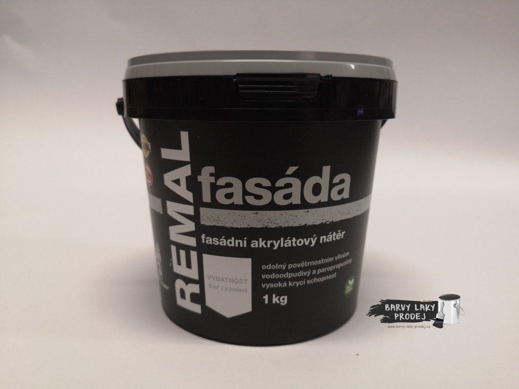Fasádní barva REMAL Akryl  1kg bílá