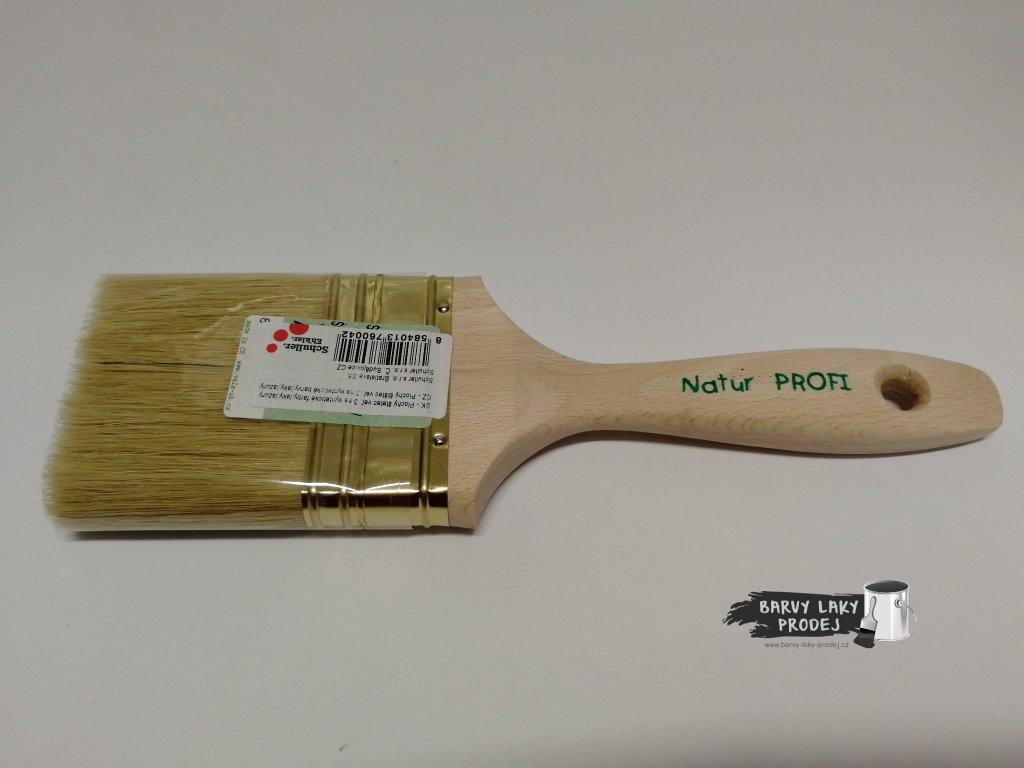 Štětec plochý 3'' - dřevěný (VALA)