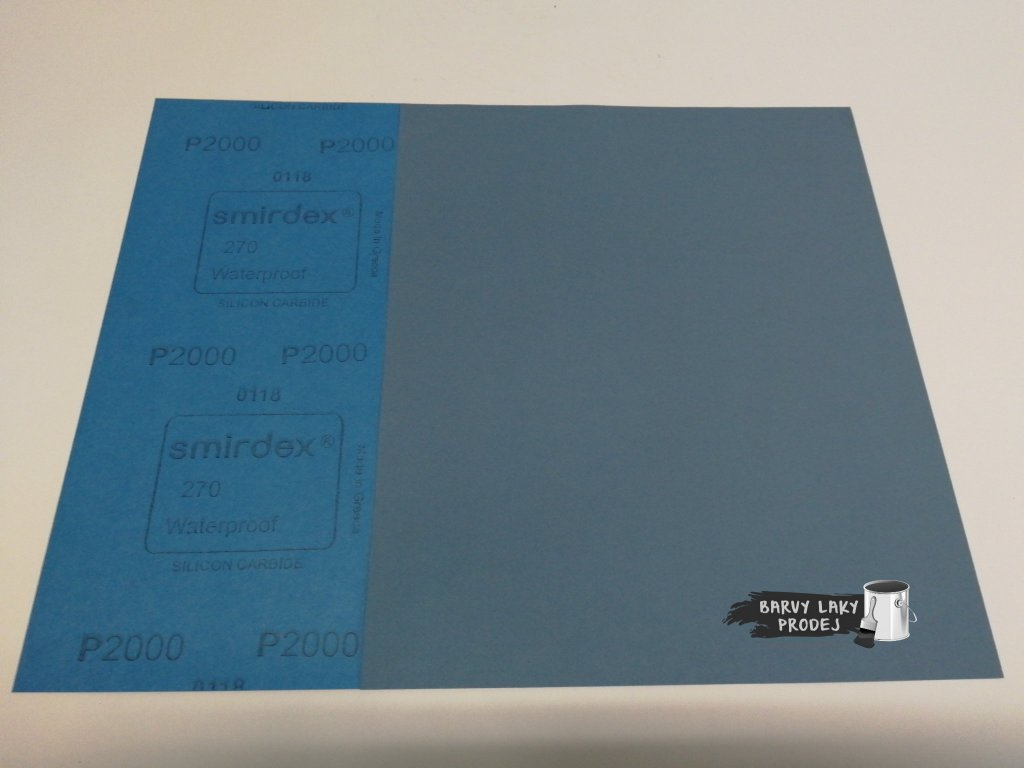 Smirkový papír arch 2000 pod vodu