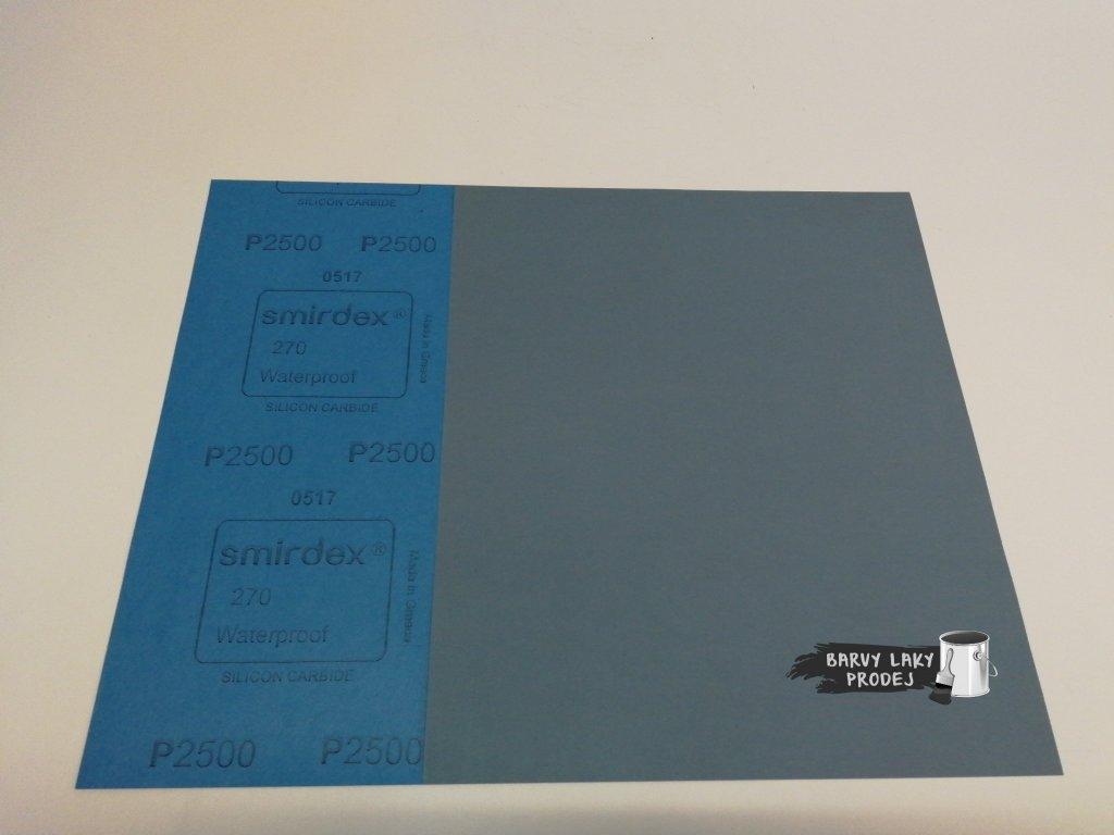 Smirkový papír arch 2500 pod vodu