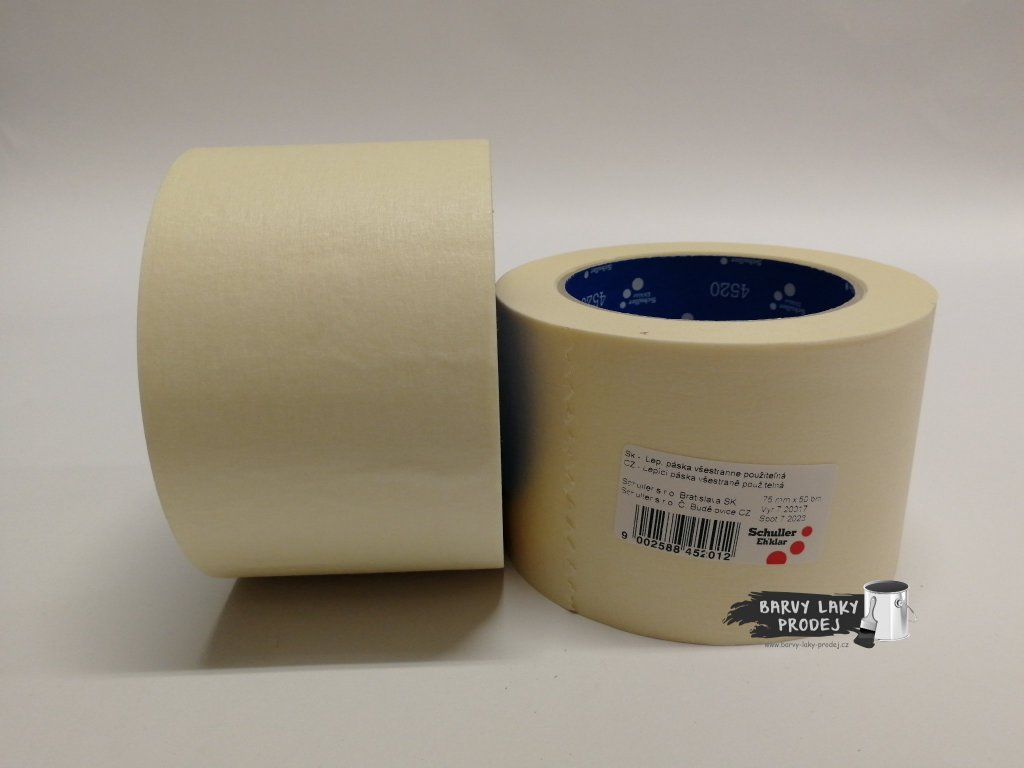 Páska papírová 75mm x 50m (do 60'C)
