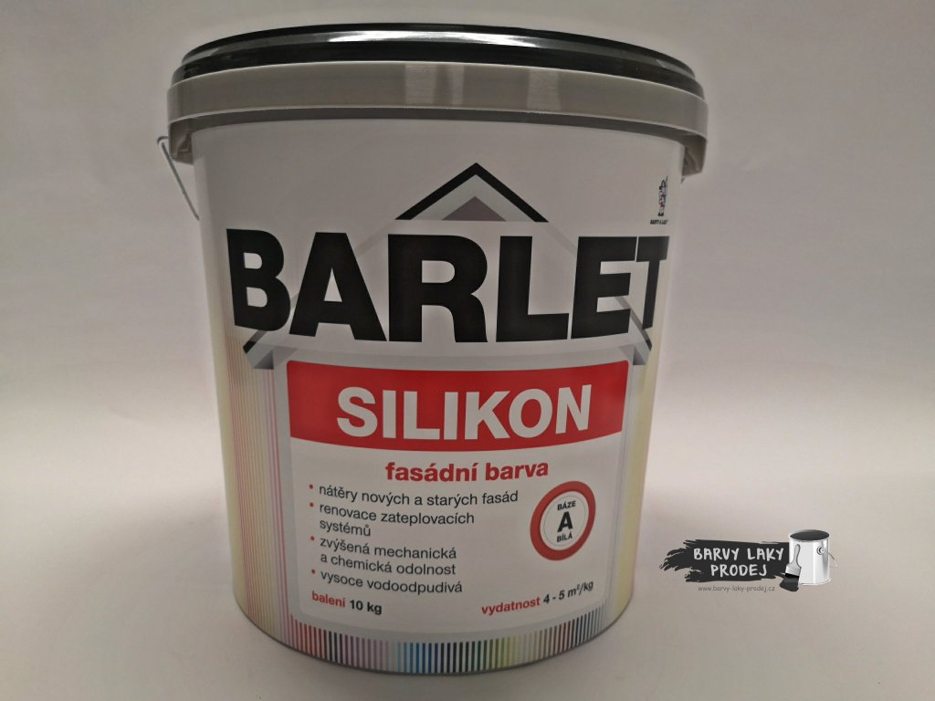 Fasádní barva Barlet Silikon/A bílá 10kg