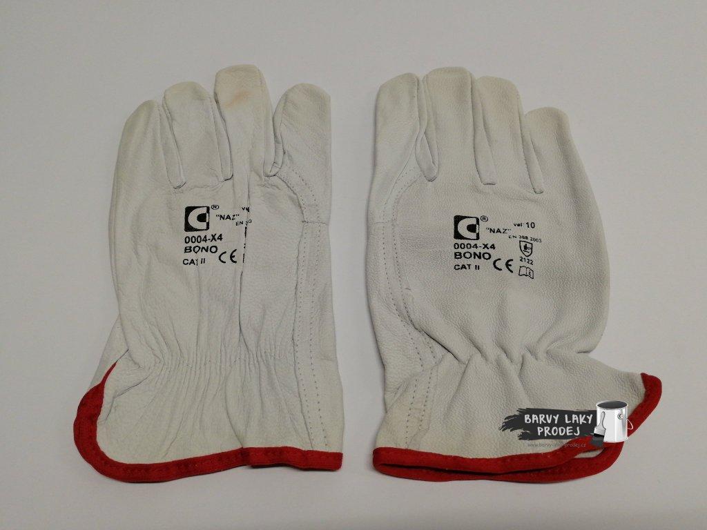 Pracovní rukavice - BONO, jemná kůže (pár)
