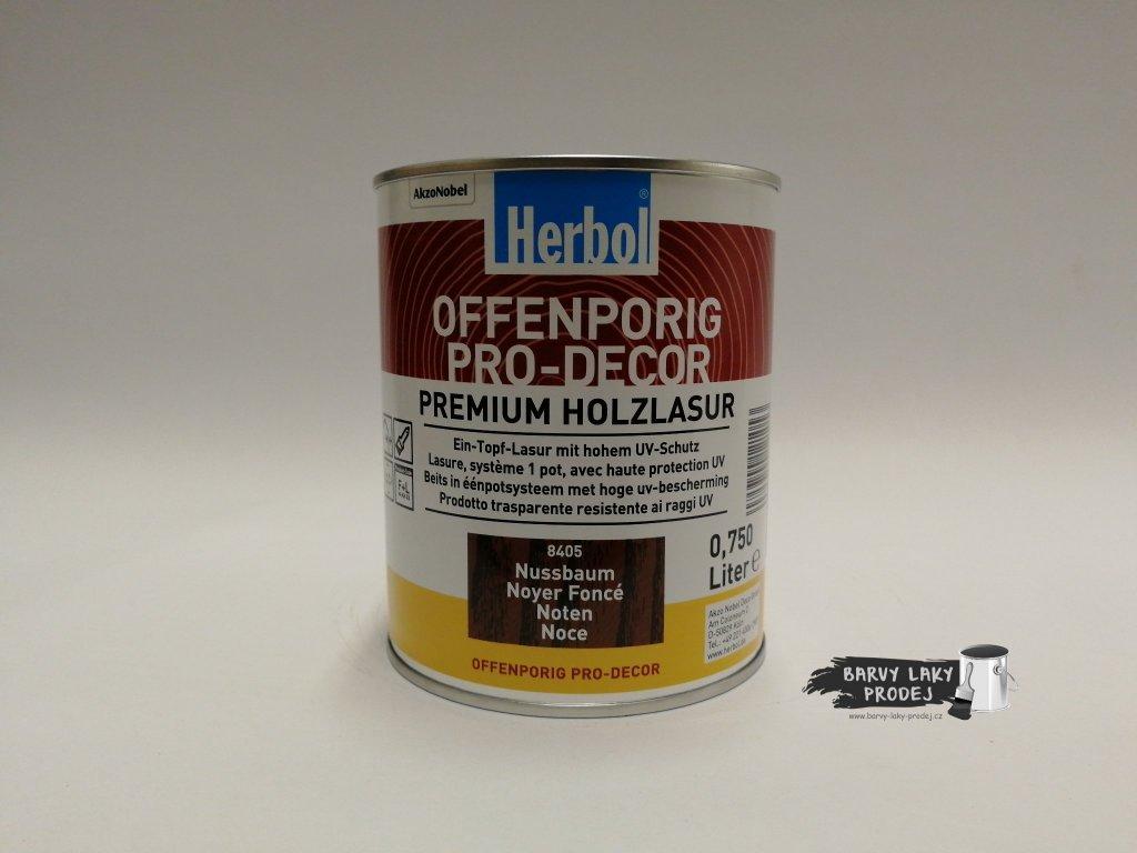 Herbol-Offenporig  pro-decor 0,75L ořech