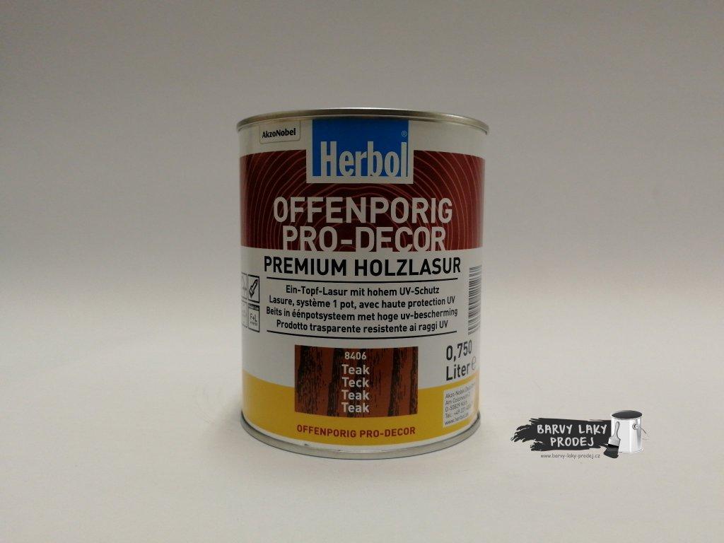 Herbol-Offenporig  pro-decor 0,75L teak