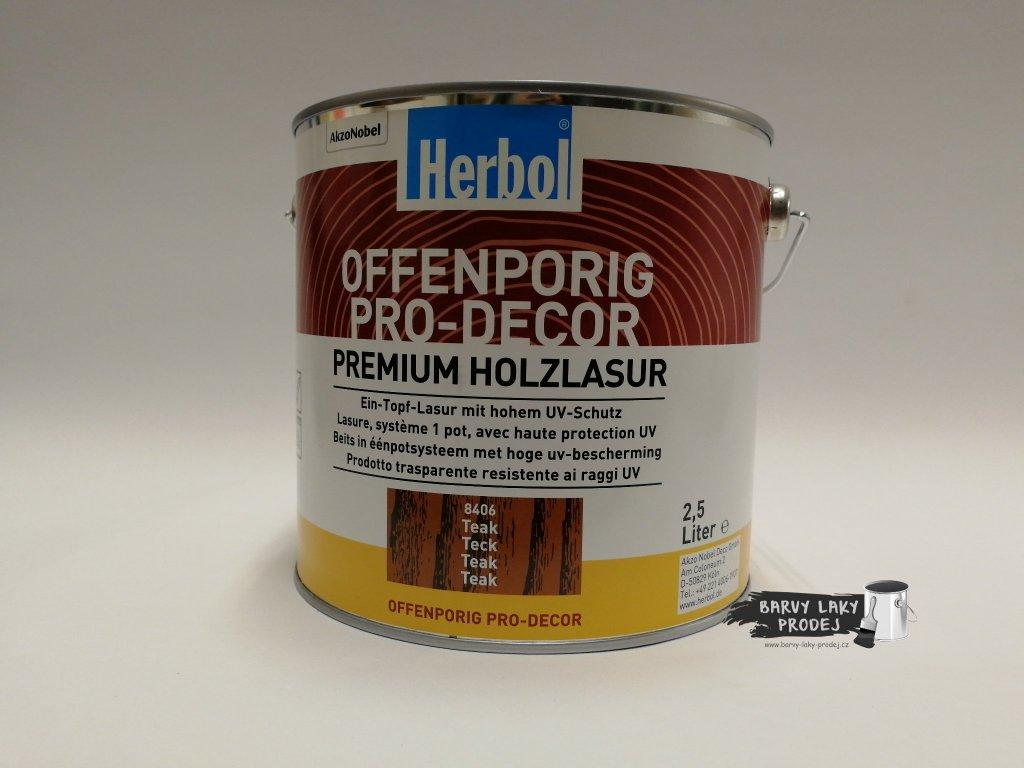 Herbol-Offenporig  pro-decor 2,5L teak