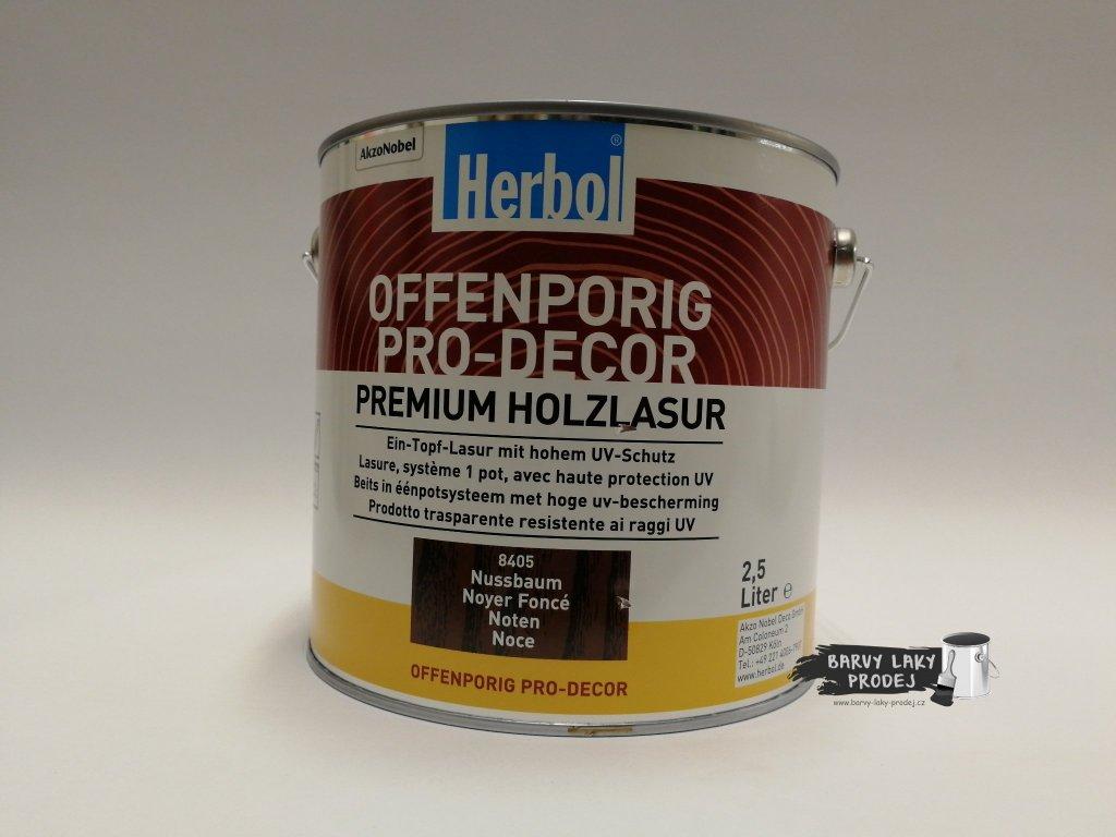 Herbol-Offenporig  pro-decor 2,5L ořech