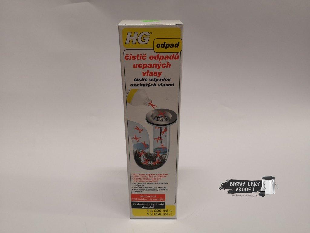 HG čistič odpadů ucpaných vlasy 450ml