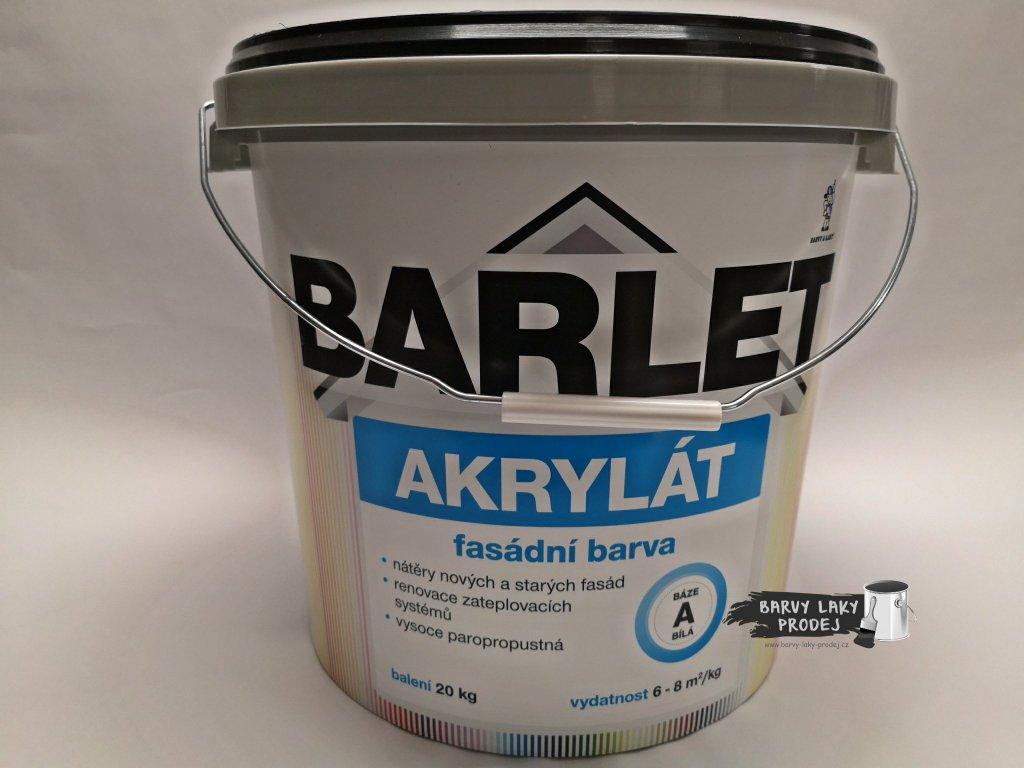 Fasádní barva Barlet Akryl/A bílá 20kg