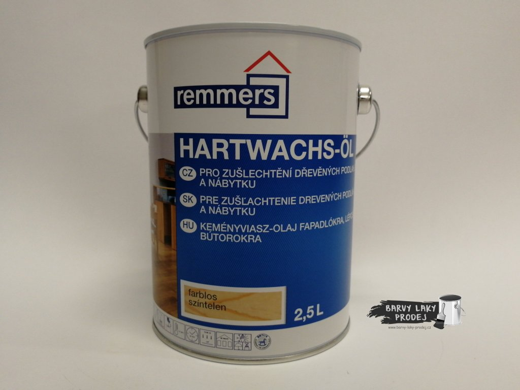 Remmers - Hartwachs Ol 2,5L eiche rustikal  Tvrdý voskový olej Premium