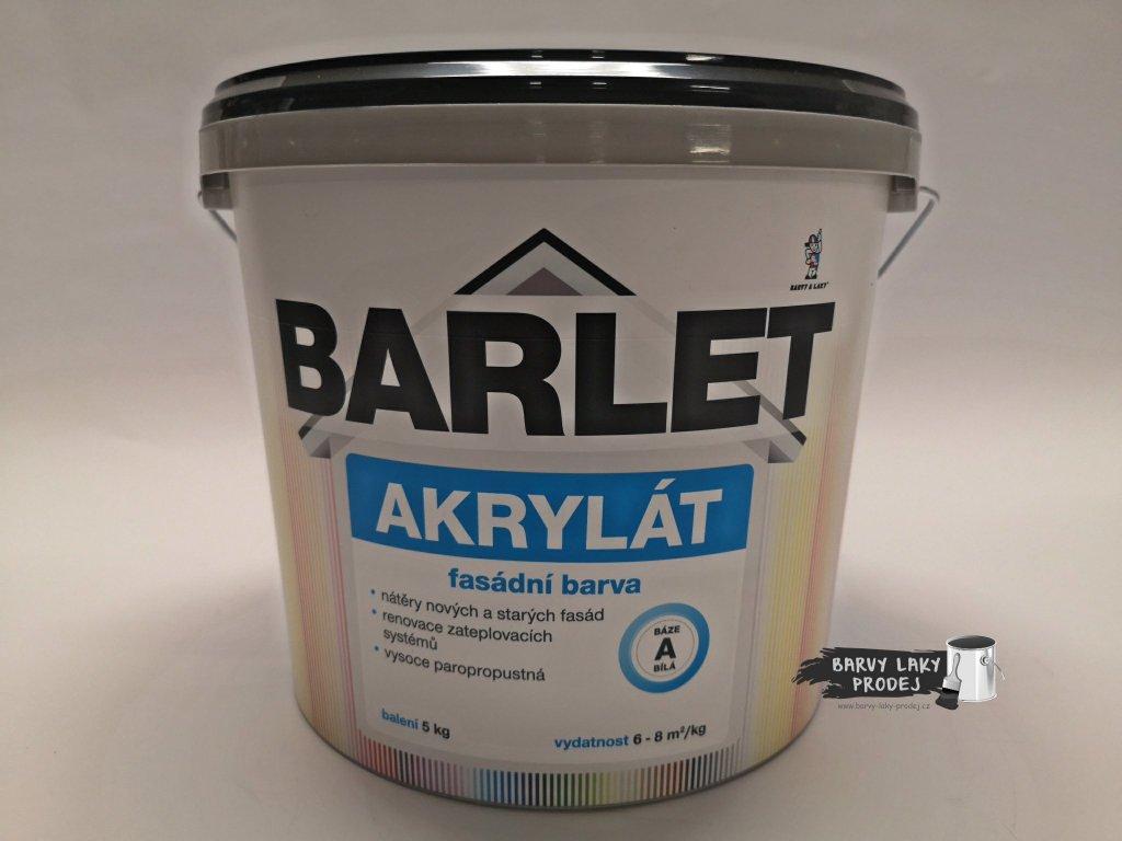 Fasádní barva Barlet Akryl/A bílá  5kg