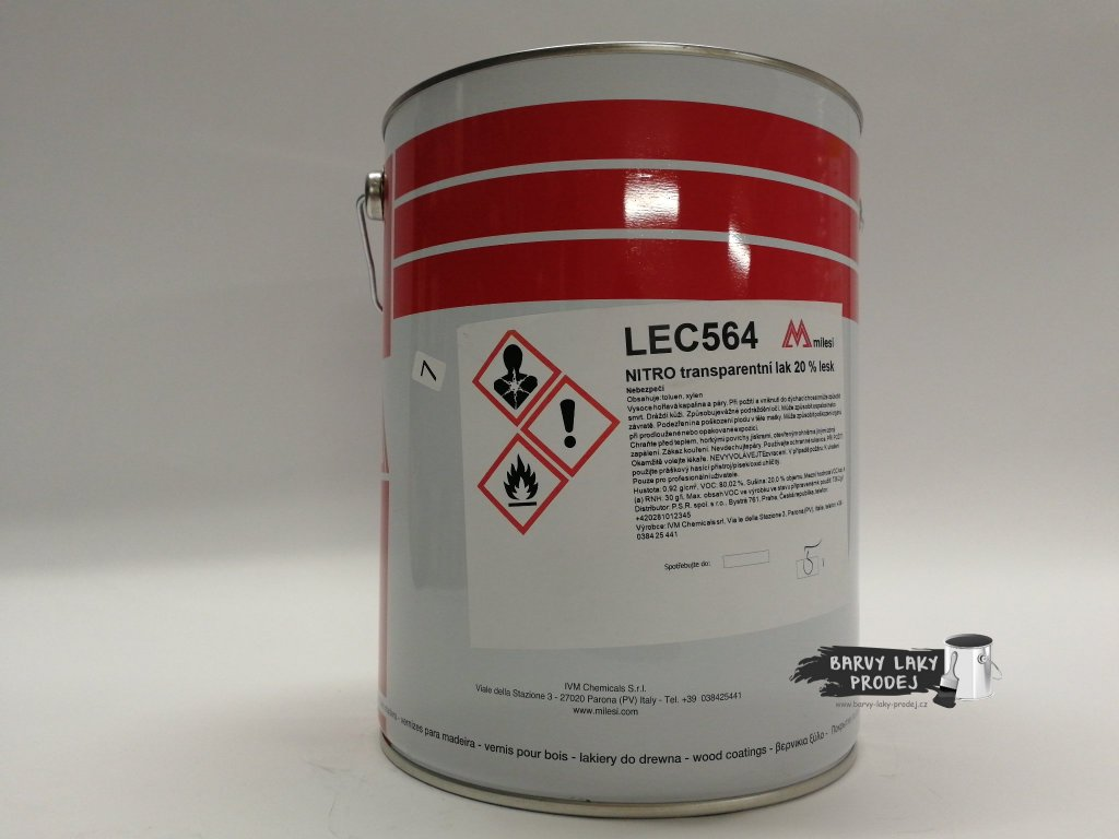 Lak LEC 564/25 transp.20%lesk *25*L
