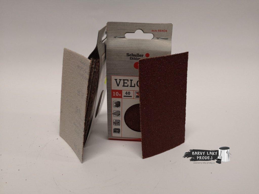 Brusný papír Velcro výsek 70x125mm (sada10ks)