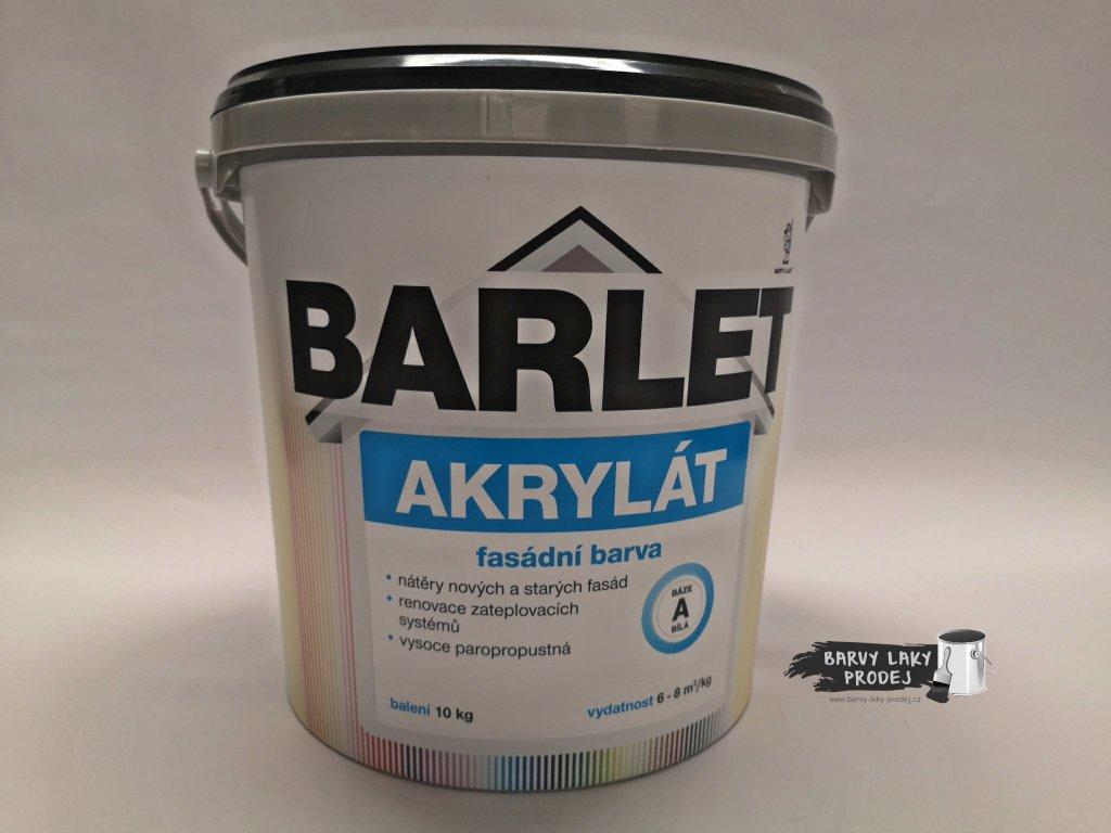 Fasádní barva Barlet Akryl/A bílá 10kg