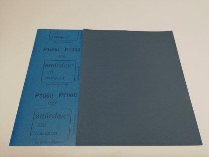 Smirkový papír arch 1000 pod vodu