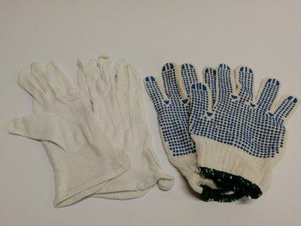 Pracovní rukavice - MAWA s terčíky,bavlna (pár)