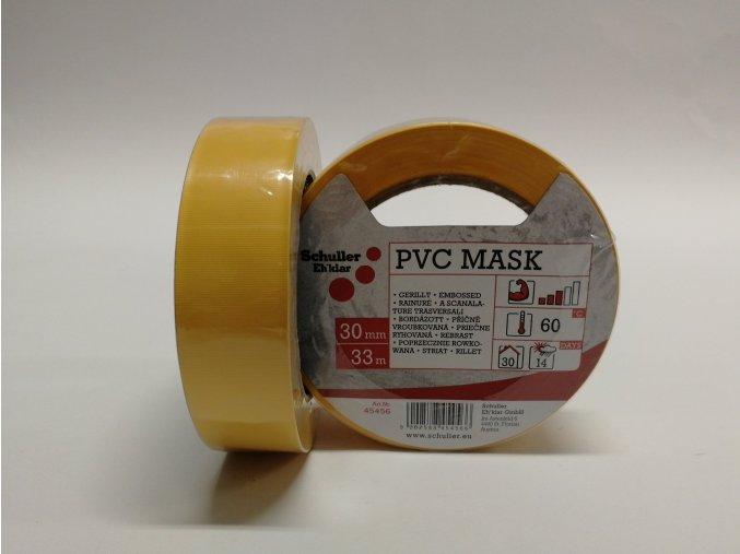 Páska UV 30mm x 33m, PVC - žlutá