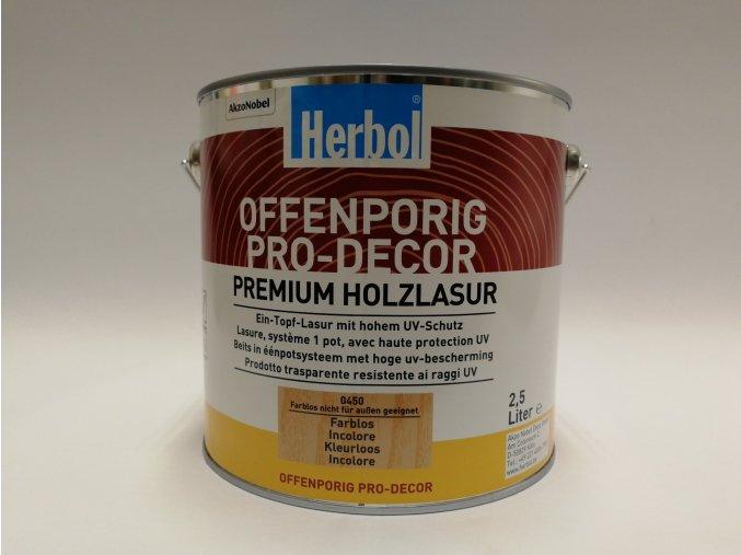 Herbol-Offenporig pro-dekor 2,5L bezbarvý