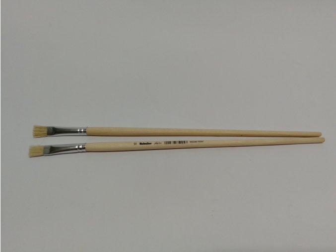 Štětec školní plochý 12(dřevěná dlouhá rukojeť)