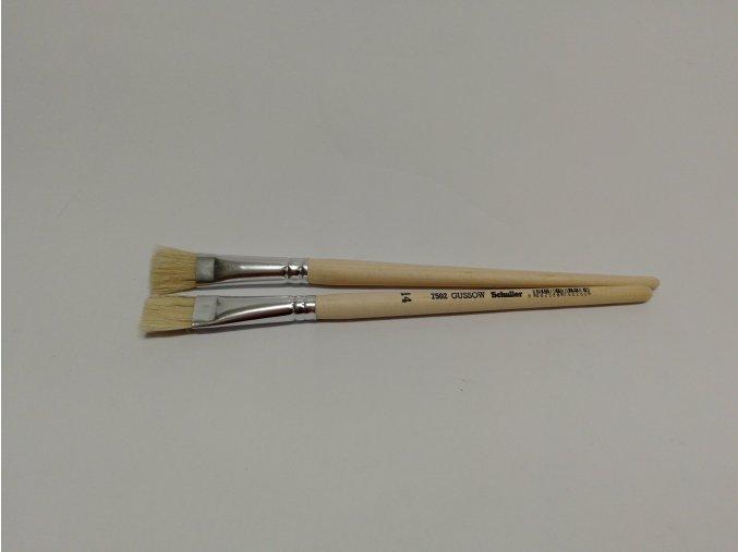 Štětec školní plochý 14(dřevěná krátká rukojeť)