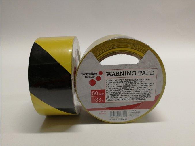 Páska lepící výstražná 50mm x 33m černo-žlutá