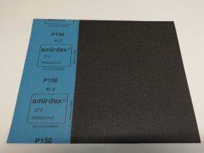 Smirkový papír arch  150 pod vodu