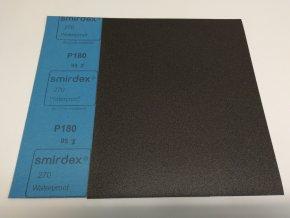 Smirkový papír arch  180 pod vodu